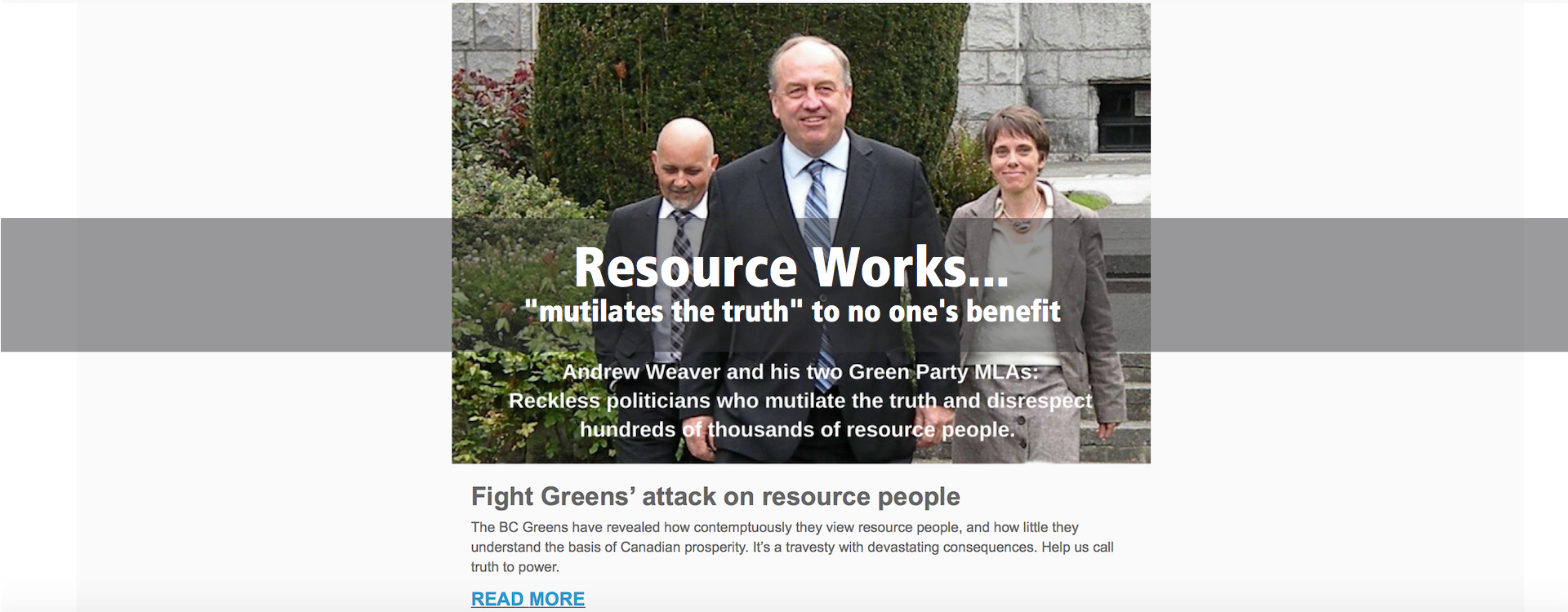 """Resource Works """"mutilates the truth"""" to no one's benefit"""
