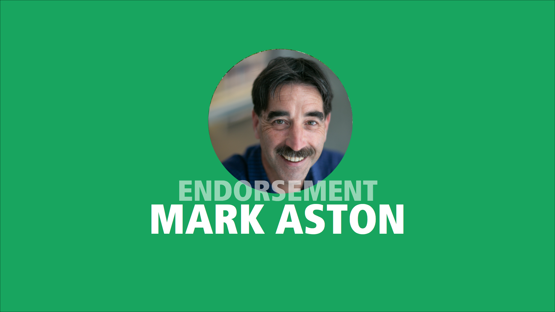 Mark Aston endorses Adam Olsen