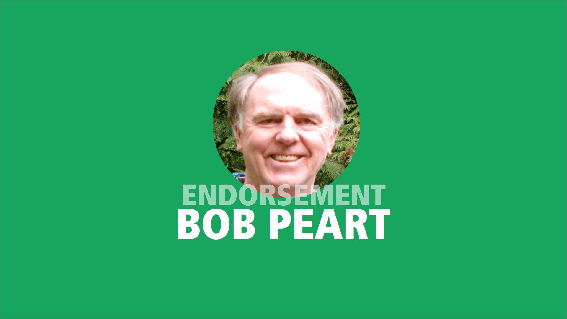 Bob Peart endorses Adam Olsen