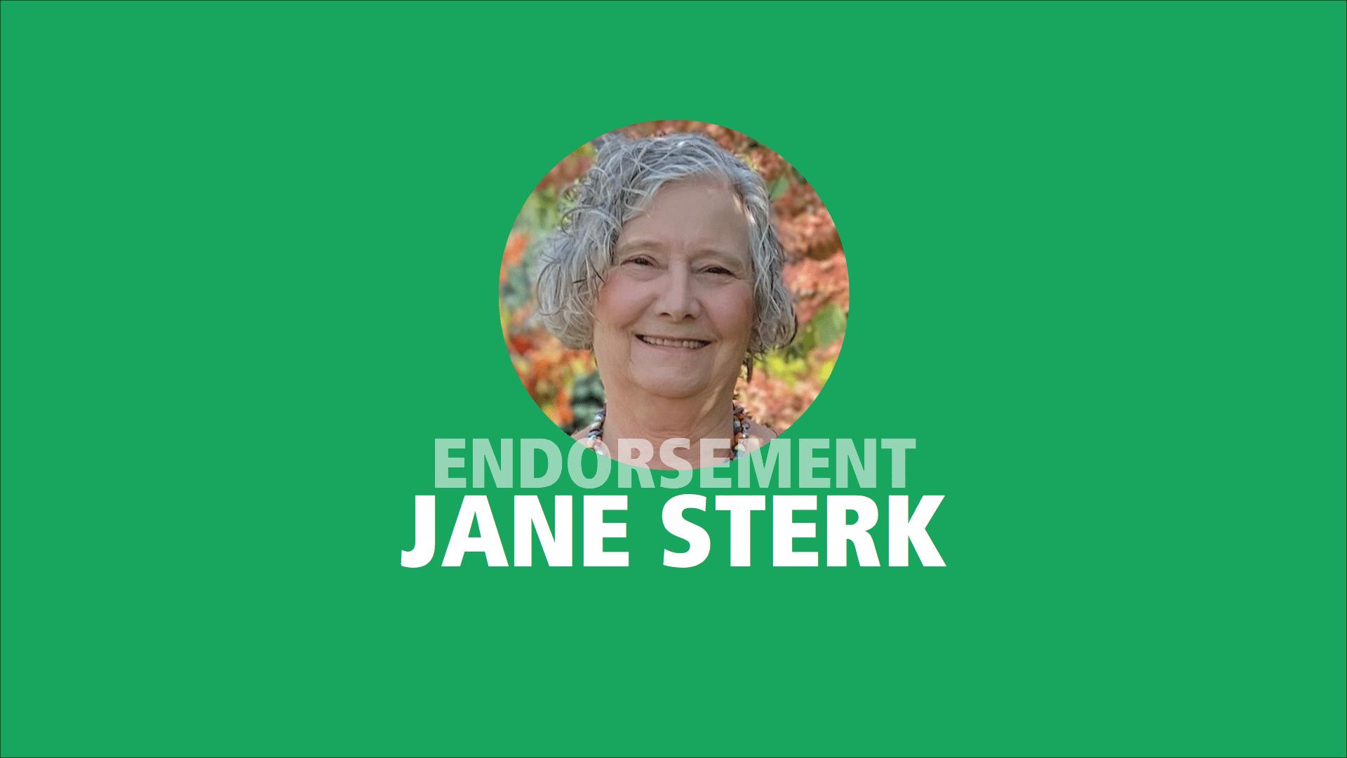 Jane Sterk endorses Adam Olsen