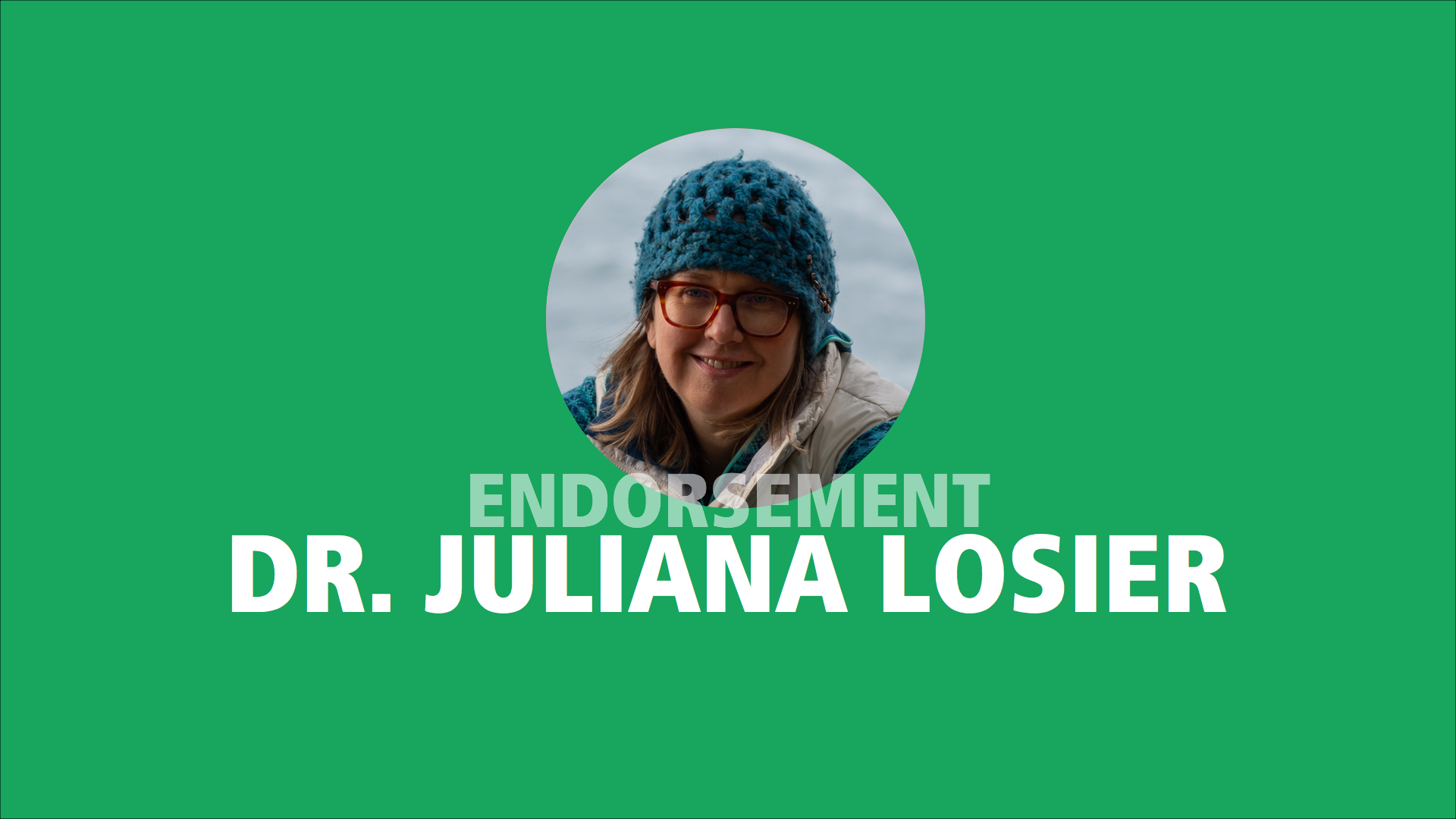 Dr. Juliana Losier endorses Adam Olsen