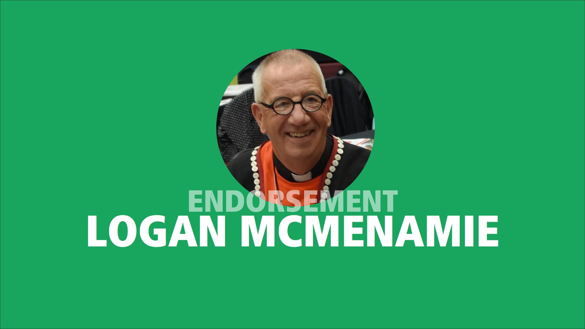 Logan McMenamie endorses Adam Olsen