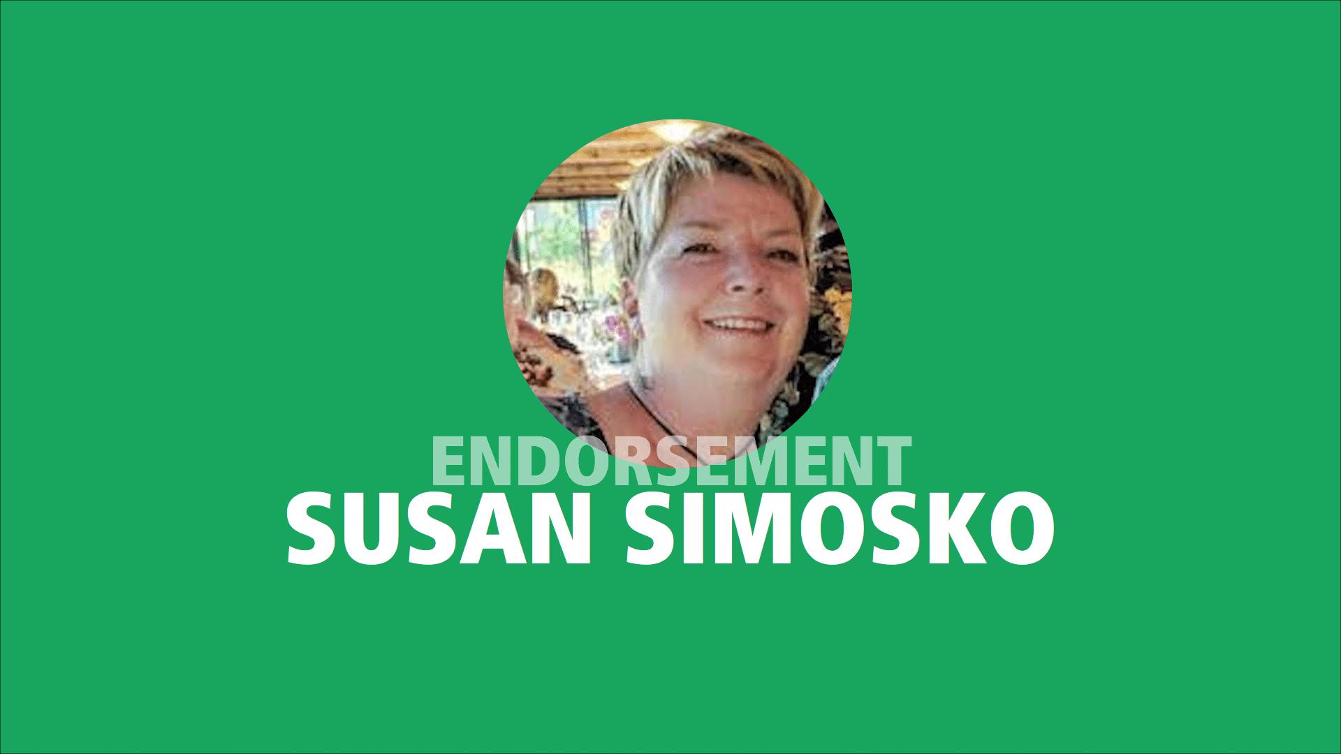 Susan Simosko endorses Adam Olsen