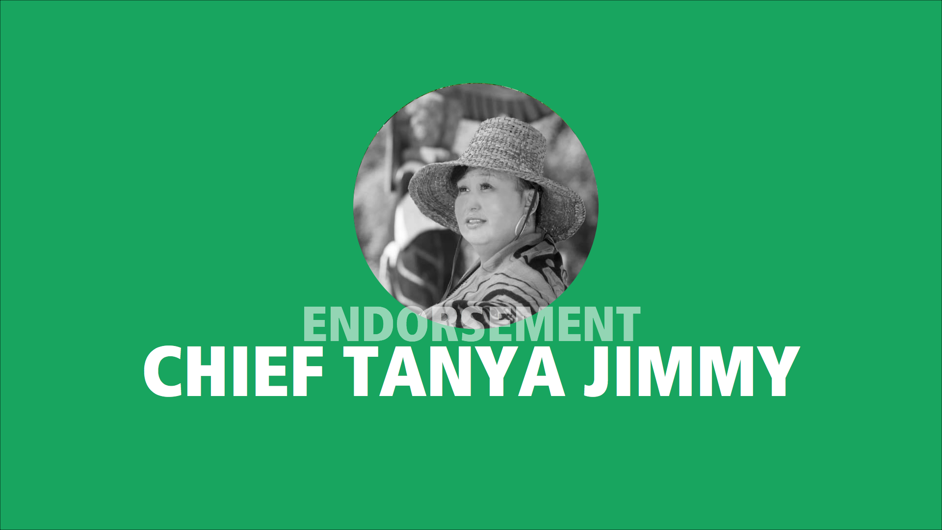 Chief Tanya Jimmy endorses Adam Olsen