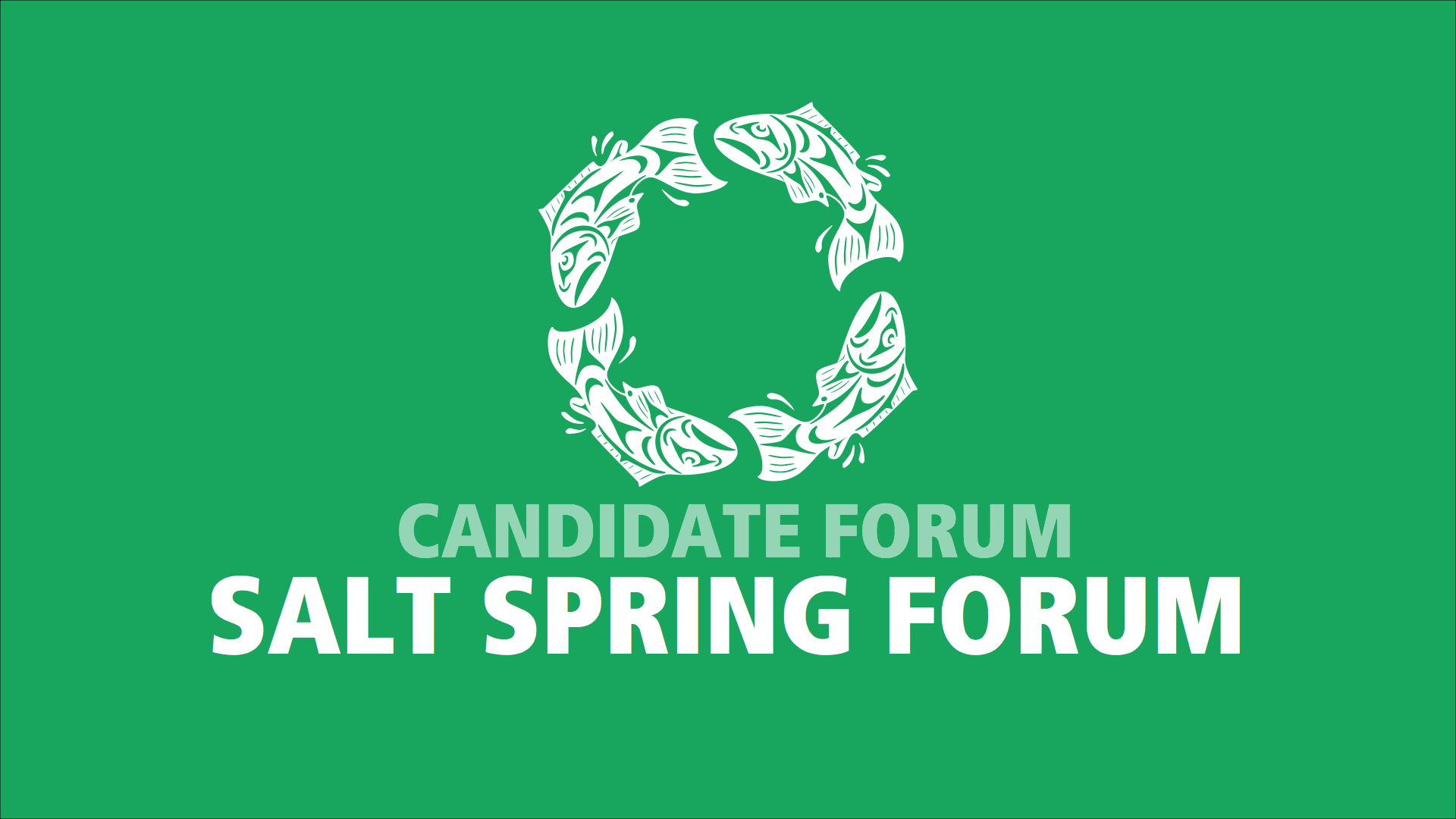 Candidate Forum hosted by Salt Spring Forum
