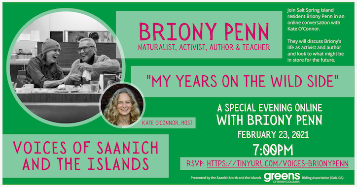 "Voices of Saanich: ""My years on the wild side"" with Briony Penn"