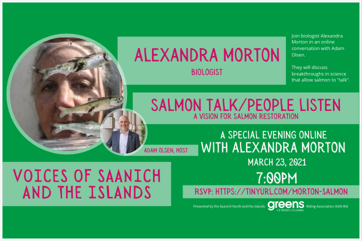"Voices of Saanich: ""Salmon Talk/People Listen"" with Alexandra Morton"