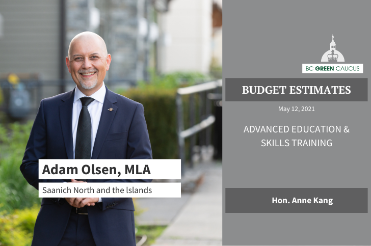 Budget Estimates 2021: Advanced Education & Skills Training